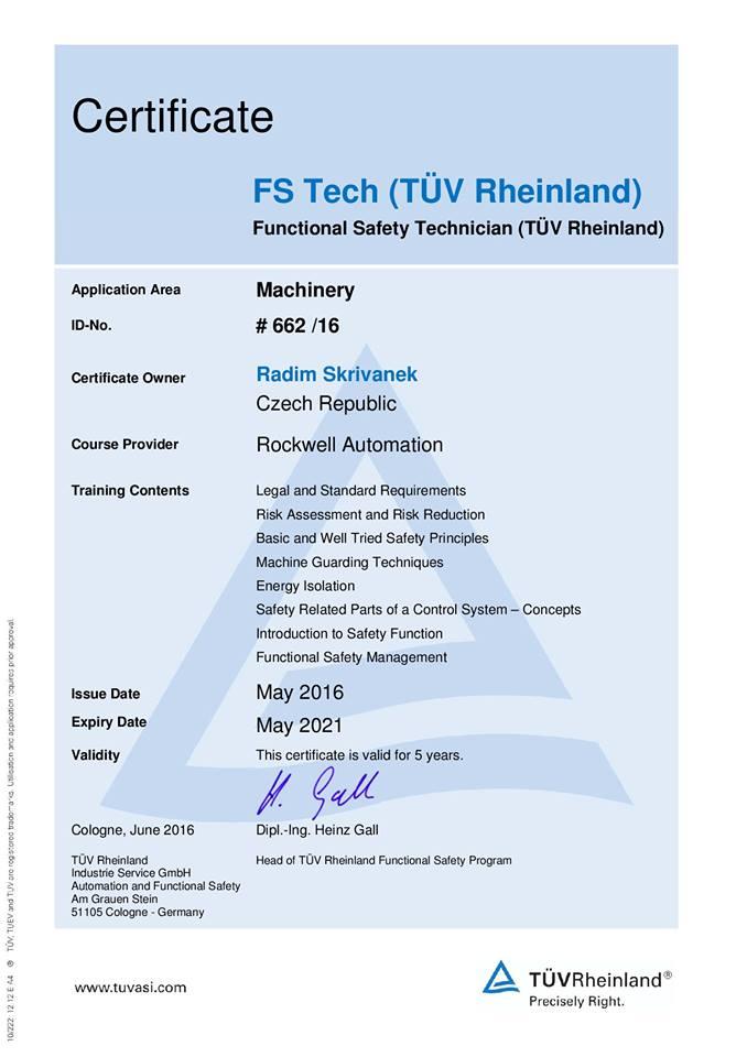 Naši zamestnanci sú okrem iného držiteľmi certifikátu INA- FAG viz INA- FAG  Lysák b4415880fcf